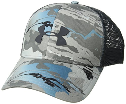 Under Armour Men's Camo Mesh 2.0 Cap, Ridge Reaper Camo Hy (927)/Stealth Gray, One Size