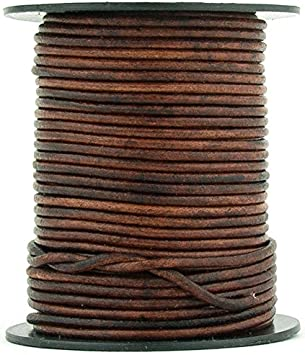 3 Yard Pink Fuchsia Natural, 3 Meter Xsotica-Dye Round Leather Cords -1.5mm Leather Cord