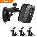 Blink XT Camera Suction Cup Wall Mount, Weather Proof 360 Degree Adjustable Indoor/Outdoor Mount for Blink Home Security Camera, 3 Pack - by Mrount