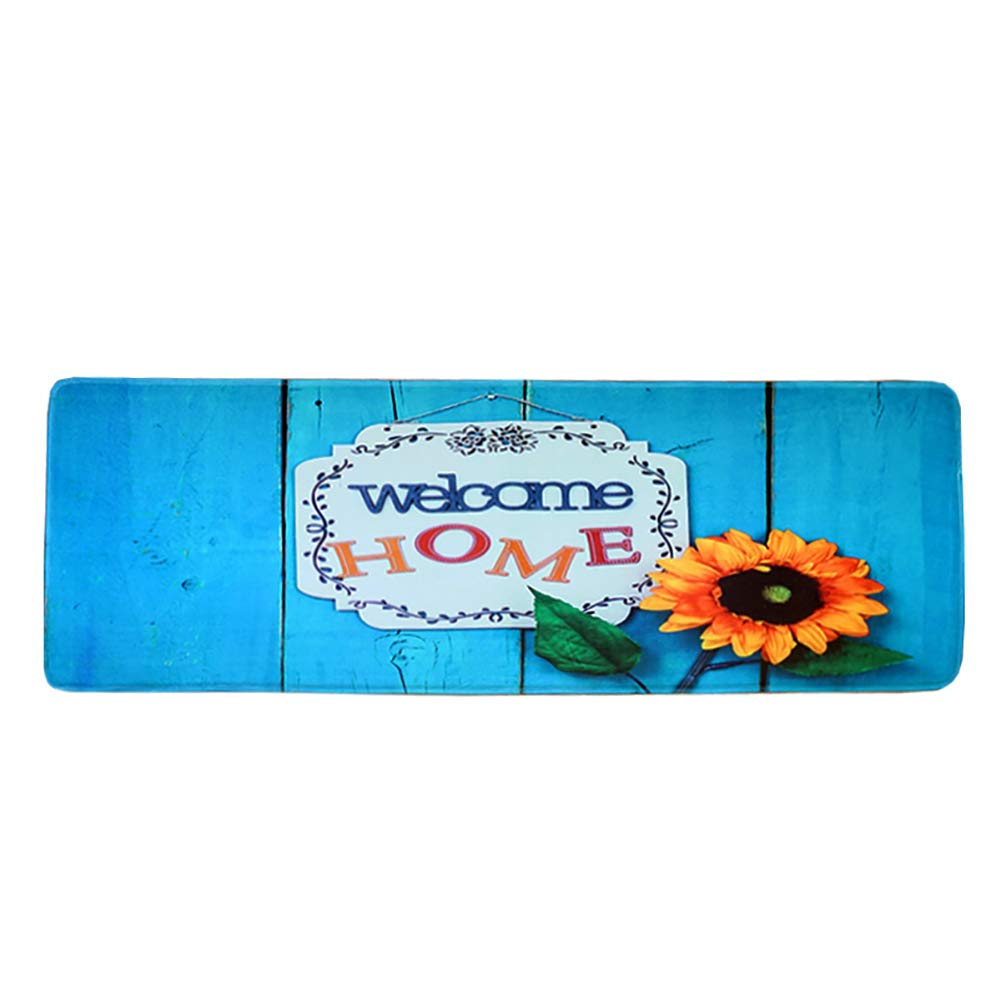 QRMH Long Mat Kitchen Non-Slip Mat Rectangular Home Bedroom Carpet Water-Absorbing Oil-Proof Mat 63In21.6In,C