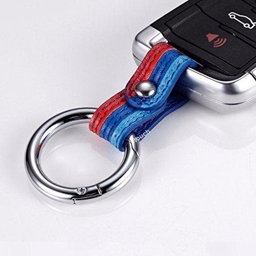 Leather M Stripes Key Ring Strap for BMW 1 3 4 5 6 8 M X3 X5