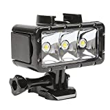 SHOOT Waterproof 30m Diving Light High Power Dimmable LED Underwater Fill Light for GoPro Hero 6 5 5S 4 4S 3+ - Campark AKASO DBPOWER Crosstour SHOOT Camera with 1200mAh Built-in Rechargeable Battery