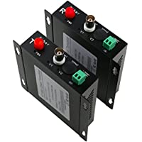 UHPPOTE BNC 1CH 720P HD CV TVI AHD Video FC Fiber Optic Transceiver Reserse RS485 Data