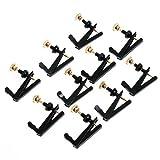 10pcs Violin Parts String Adjuster Fine Tuner 3/4 -4/4 Black and Gold Violin Parts High Quality