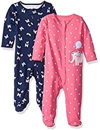 Carter's Girls' 2-Pack Cotton Sleep and Play