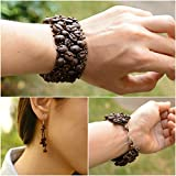 Guatemalan Coffee Bean Bracelet Earrings Set, Handmade Fashion Jewelry Gift - Kapeej-Kapeej