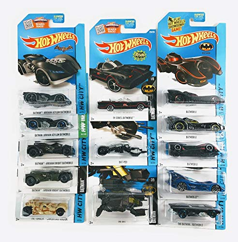 Hot Wheels Batman Batmobile Bat-Pod The Bat Collection Set