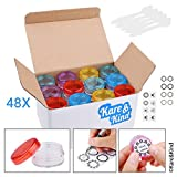 Kare & Kind Lip Balm Container Jars - for Cosmetics