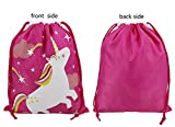 Drawstring Bags Party Favors for Kids Unicorn Design, Arts & Crafts Activity 10 Pack