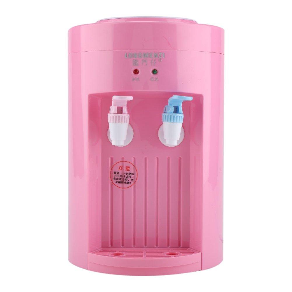 Zerodis 220V 5L Mini dispensador de Agua Refrigerador de Agua eléctrico Máquina de Bebida de Agua fría Caliente para Uso de la Oficina, casa (Pink): ...