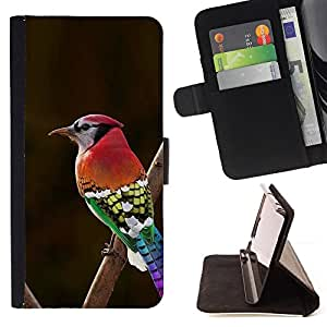 - red brown green red beak branch brown - - Prima caja de la PU billetera de cuero con ranuras para tarjetas, efectivo desmontable correa para l Funny HouseFOR Samsung Galaxy S3 Mini I8190Samsung Galaxy S3 Mini I8190
