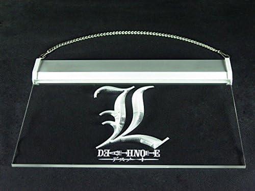 Death Note Notebook Cosplay Bar Hub Advertising LED Light Sign J849B
