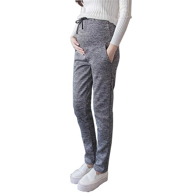 29652f390 Premama Leggings Invierno Pantalones Pijama Algodon Pantalones Embarazada  Maternidad Pantalones Leggins  Amazon.es  Ropa y accesorios