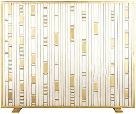 暖炉スクリーン 北欧のシンプルな錬鉄暖炉のドアゴールデン暖炉の装飾鍛鉄パーティションスクリーンリビングルームホームアイアンフェンス 暖炉用パネル