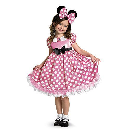 Disney Minnie Mouse Clubhouse Glow In The Dark Costume, Pink/White, X-Small (Halloween Minnie Mouse Costume)