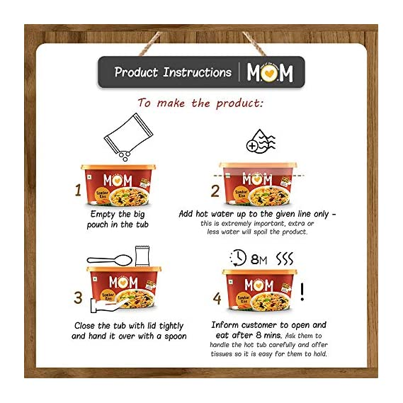 MOM - MEAL OF THE MOMENT Instant Sambar Rice, 3 x 90 g with Combo