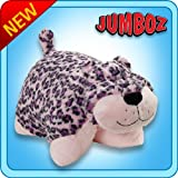 "Pillow Pets Jumboz Pink Leopard - 30"" Folding Jumbo Plush Pillow"
