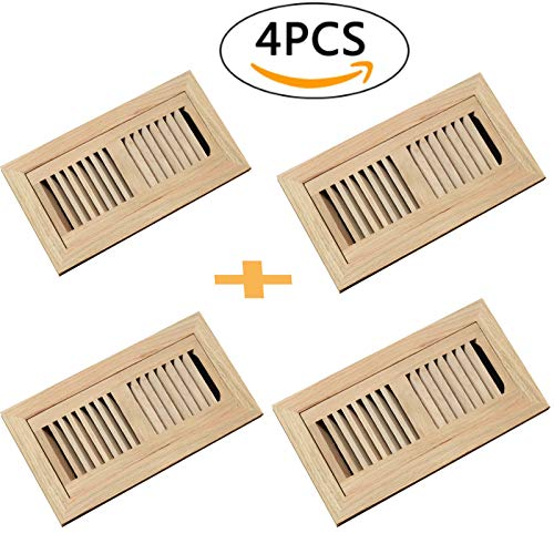 WELLAND 4 PCS 4x10 Inch Red Oak Hardwood Vent Floor for sale  Delivered anywhere in USA