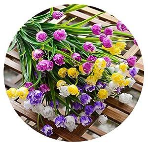 Elibone 25 Heads Mini Tulips Bouquet Plastic Artificial Flower for Spring Home Wedding Decoration White Tulip Fake Flowers Flores 4