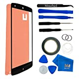 Front Glass Lens for LG GOOGLE NEXUS 5 D820 D821 Black Display Digitizer replacement kit 12 pieces incl tools / pre cut Sticker / Tweezers / Roll of 2mm adhesive tape / cleaning cloth / suction cup / wire MMOBIEL