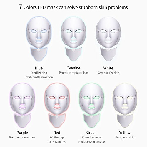 7 Colors Led Light Photon Neon-glowing Facial Light Skin Rejuvenation Led Face Mask Care Treatment Beauty by LIARTY (Image #3)