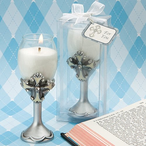 (Cross Design Champagne Flute Candle Holders, 14)