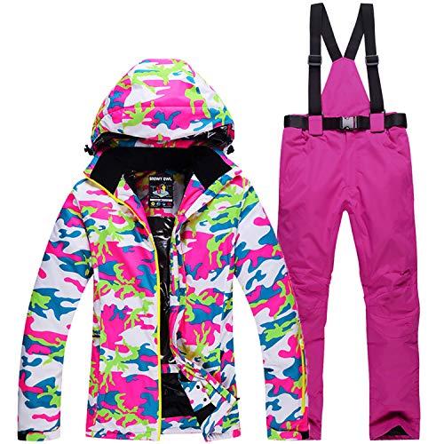 2 Skijacke Damen Femme M Wasserdicht Ski Set Costume Winddicht Hose txdsChQr
