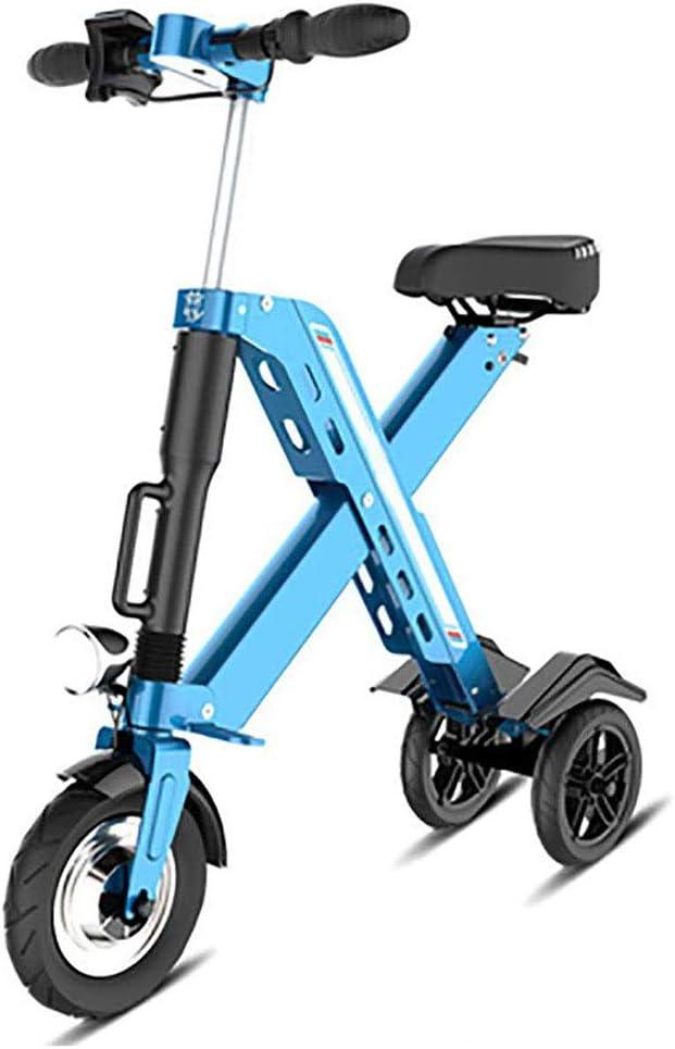 YANGMAN-L Scooter eléctrico, 350 W Mini Plegable Triciclo 36V 10,4 AH Eje Trasero de suspensión del Camino de Bicicletas de Movilidad de Asistencia y Viajes