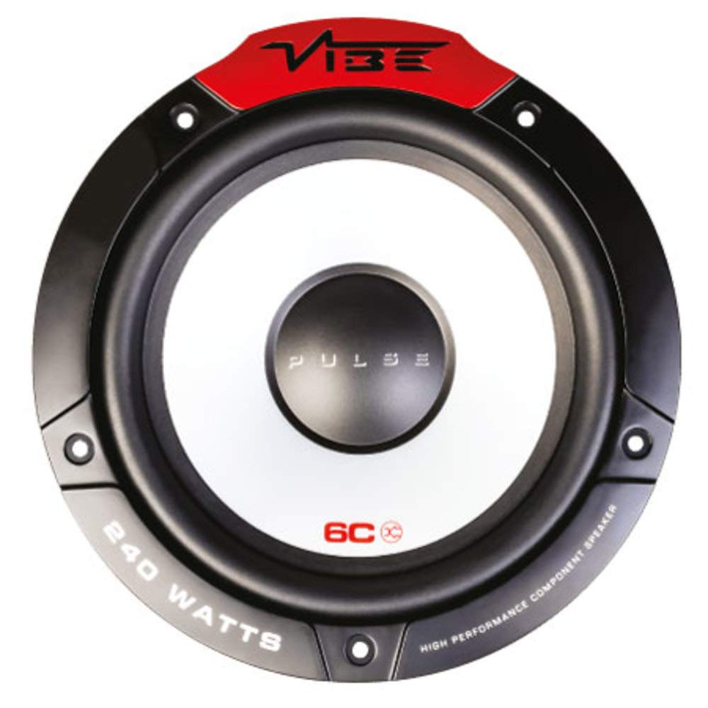 Vibe Audio Pulse Series 6C Car 6.5' inch 240w 2-Way Car Door Component Speakers Tweeters System Set PULS 6C-V4