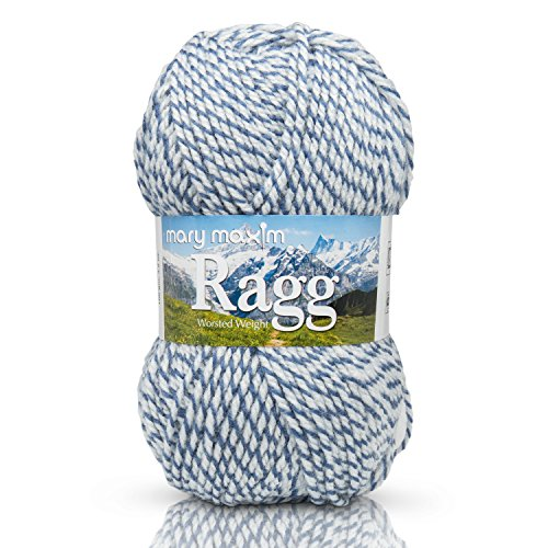 "Mary Maxim Starlette Ragg Yarn ""Denim"" 