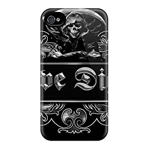 HGTFREE Apple iPhone 5 5s Aluminum Silicone Dual Layer Hard Case Cover Trust Me I'm the Coach (Black)