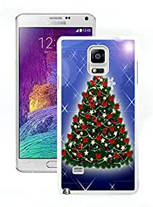 Hot Sell Design Christmas Tree White Samsung Galaxy Note 4 Case 22