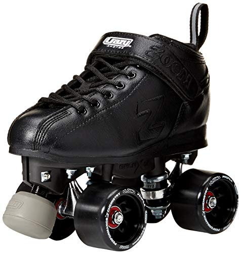 Crazy Skates Zoom Speed Roller Skates | High Performance Speed Wheels and Bearings | Black Men
