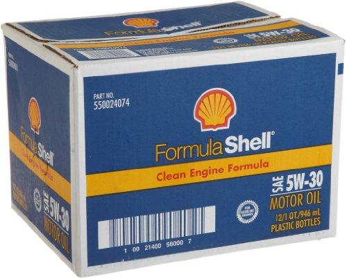FormulaShell 550024074-12PK SAE 5W-30 Motor Oil - 1 Quart, (Pack of 12)