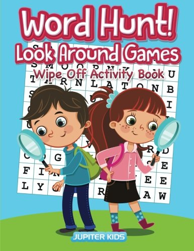 Word Hunt! Look Around Games: Wipe Off Activity Book / Hidden PICS by Jupiter Kids (Image #1)