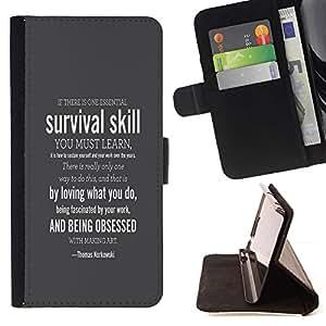 Momo Phone Case / Flip Funda de Cuero Case Cover - SUPERVIVENCIA HABILIDAD - Samsung Galaxy J1 J100