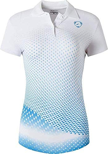 jeansian Womens Outdoor Sport Quick Dry Short Sleeves Polo T-Shirt SWT251