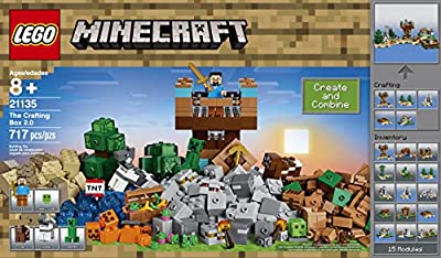 LEGO Minecraft the Crafting Box 2.0 21135 Building Kit (717 Piece) from LEGO