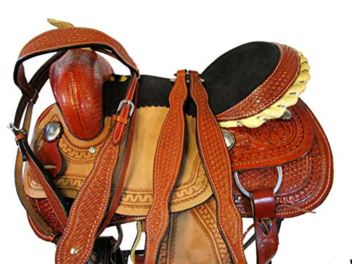 (Orlov Hill Leather Co 15 16 17 PRO Racer Pleasure SILLAS para CABALLOS Barrel Racing Western Saddle (15 Inch))