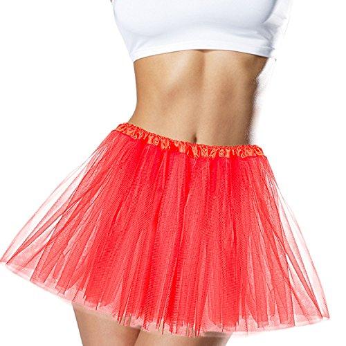 Runner Up Halloween Costume (Deluxe Tutu Organza Tutu Women's Skirt Tulle Petticoat Royal Princess Tutu Ballerina Dance Tutu Runner Skirt Race Tutu Ballet Dress - Womens - Adult Size (Red))