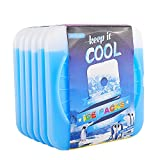 OICEPACK Ice Packs (set of 6) Ice Packs for Lunch Boxes Cool Packs for Cooler Thick Ice Packs Fits Lunch Bags Gel Ice Packs Stay Cold for Long Time Freezer Cooler Packs for Keeping Food Fresh Blue