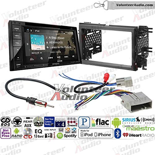 Volunteer Audio Kenwood Ddx276bt Double Din Radio Install Kit With Bluetooth Sirius Xm Ready Touchscreen Fits 2007 2010 Edge Without Factory Amplified Sound