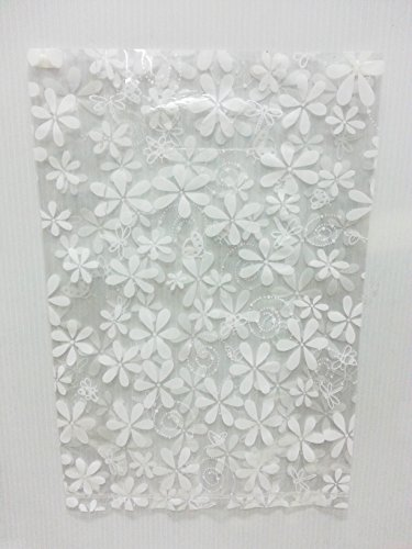 Black And White Mini Rose Top Hat (Lin NaDa Small 50 Pcs.Treat Goody Plastic Bag 8