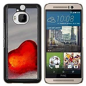 YiPhone /// Prima de resorte delgada de la cubierta del caso de Shell Armor - El amor del Corazón de Invierno - HTC One M9Plus M9+ M9 Plus