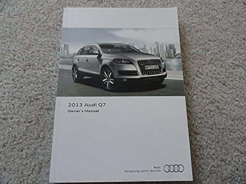 2013 audi q7 owners manual with nav manual audi amazon com books rh amazon com Audi A7 audi q7 manual book