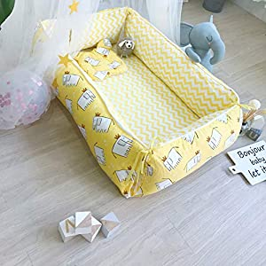 Baby Nest Newborn Baby Lounger Soft Breathable Cotton for Newborn & Babies Sleeping Pod Baby Bassinet for Bed/Style 10