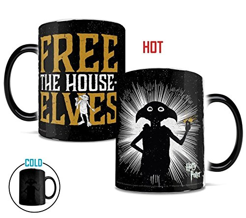 Morphing Mugs Dobby Free The House Elves Heat Reveal Ceramic Coffee Mug - 11 Ounces -