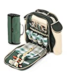 Greenfield Collection Deluxe Forest Green Picnic Backpack Hamper for Four People with Matching Picnic Blanket Review