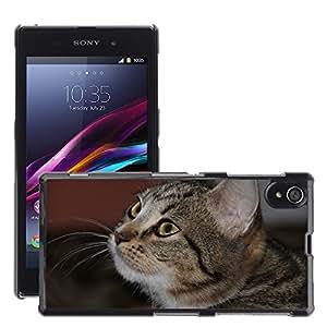 Etui Housse Coque de Protection Cover Rigide pour // M00111979 Ojos de gato Ojos Animales Gato lindo // Sony Xperia Z1 L39 C6903 C6906 C6943 C6902