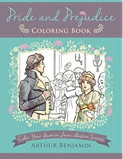 Classic Coloring Jane Austen Adult Coloring Book 55 Removable